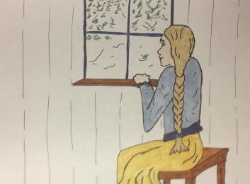 Snegurotschka am Fenster