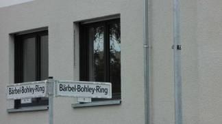 """28.10.2017, Bärbel Bohley war eine Bürgerrechtlerin der DDR. Immerhin heißen die neuen Straßen nicht """"Zur Börse"""" wie angeblich in einem Neubauviertel im Friedrichshain."""