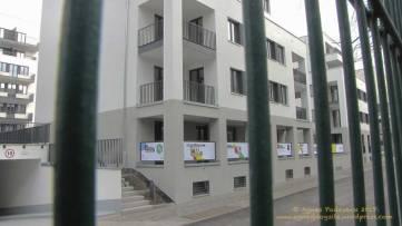 Groth-Baustelle am Mauerpark; Blick von den Höfen der Graunstraße aus auf die künftigen Sozialwohnungen; Sonntag, 26. November 2017