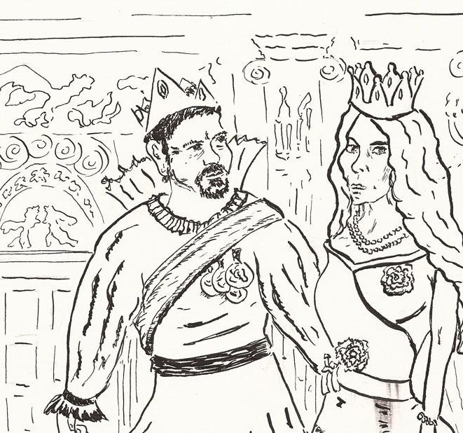 #INKTOBER2018 08: star und abc.etüden 41.42.18 –  Ein Märchen von der BösenKönigin