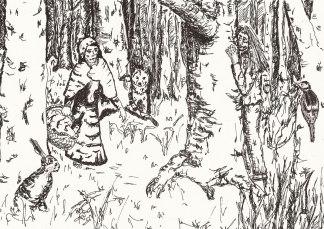 Margarete im Wald.