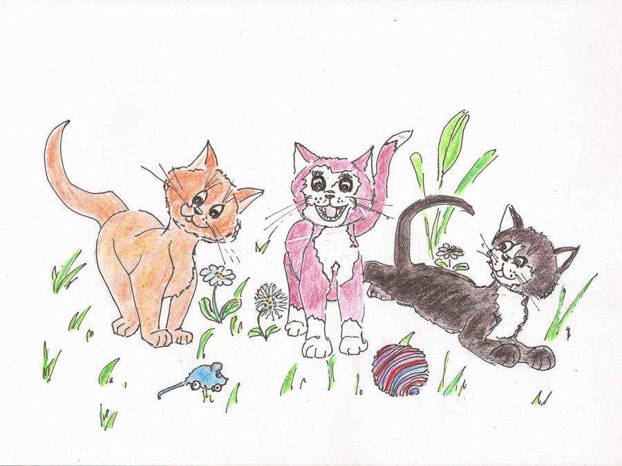 Kleine Kätzchen. Zeichnungen