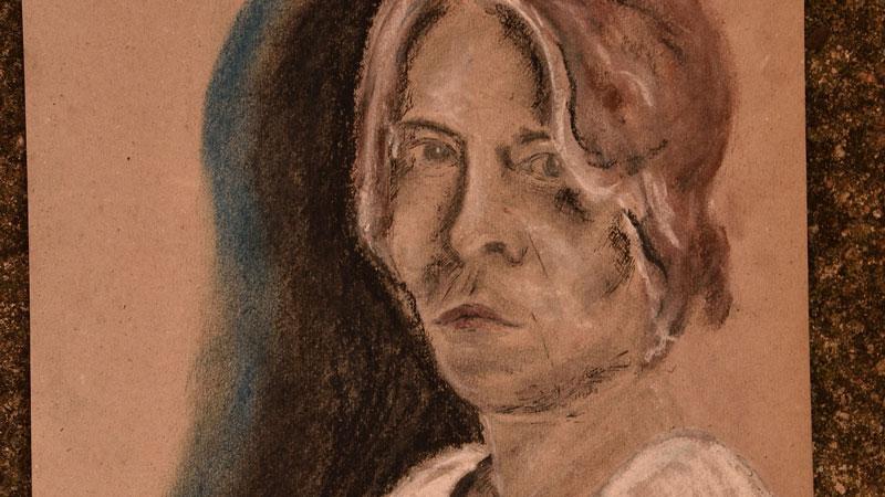 (Selbst)Portraitskizze aus demJuni