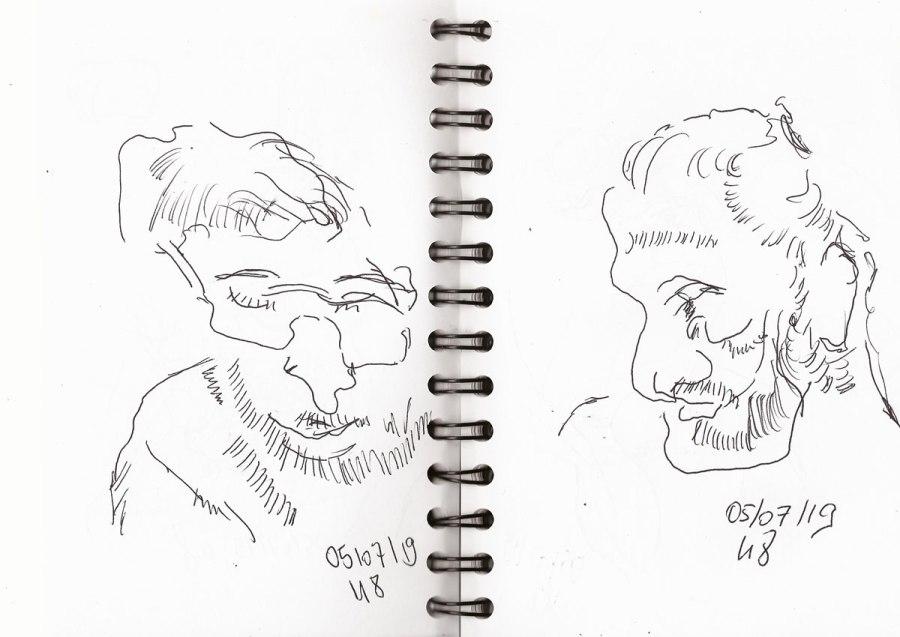 """S-Bahn-Skizzen (62). """"Blind"""" gezeichnet?"""
