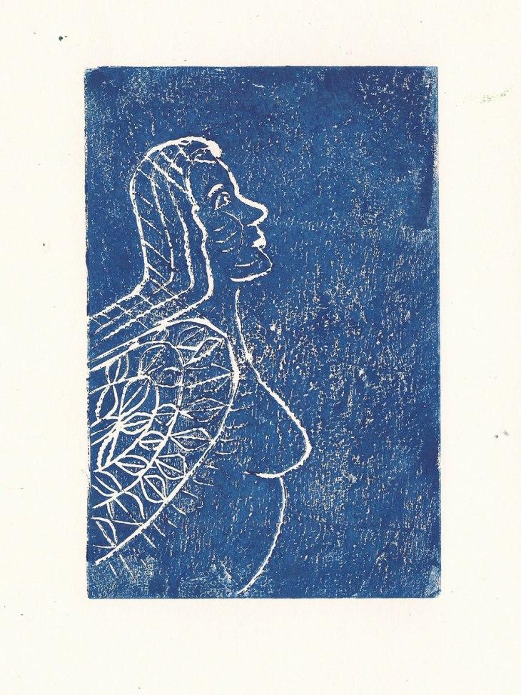 Margaritas Traum (Vs. 4), Linoldruck, A6