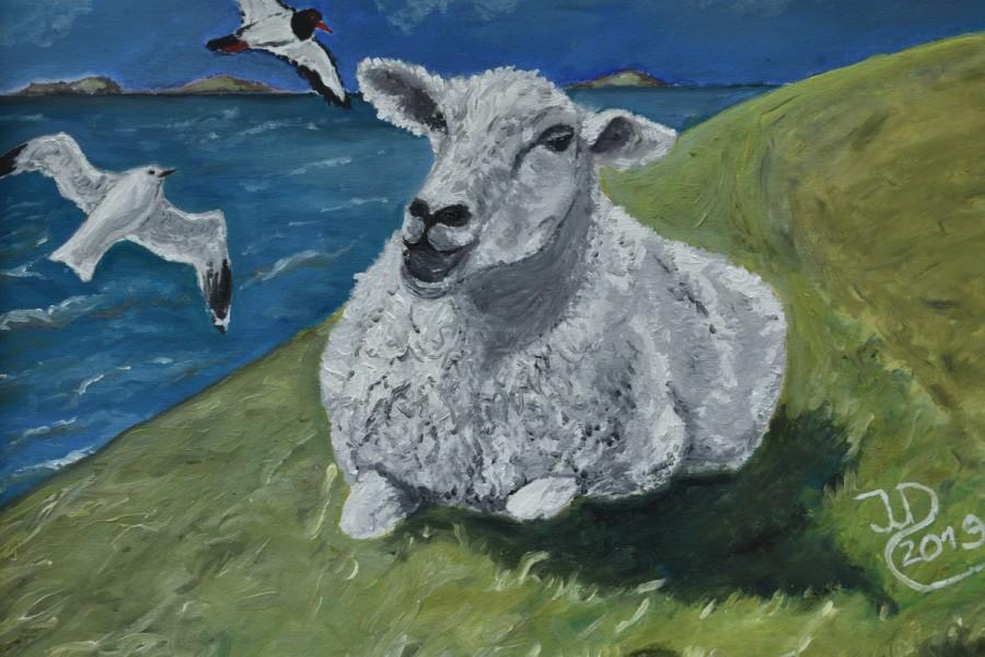 Ölgemälde: Schaf