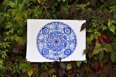 Mandala. Wasser. Tusche auf Aquarellpapier, September 2019