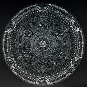 Mandala, Tuschefüller auf Aquarellpapier, 48*46cm, quadratischer Ausschnitt