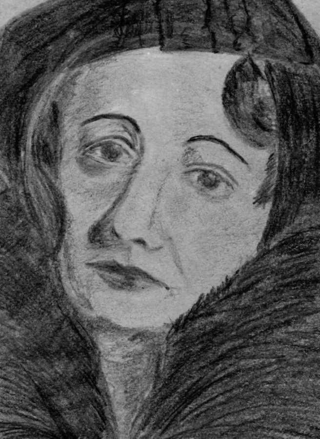 Portraitzeichnen am Mittwoch. Mme.Bulgakowa